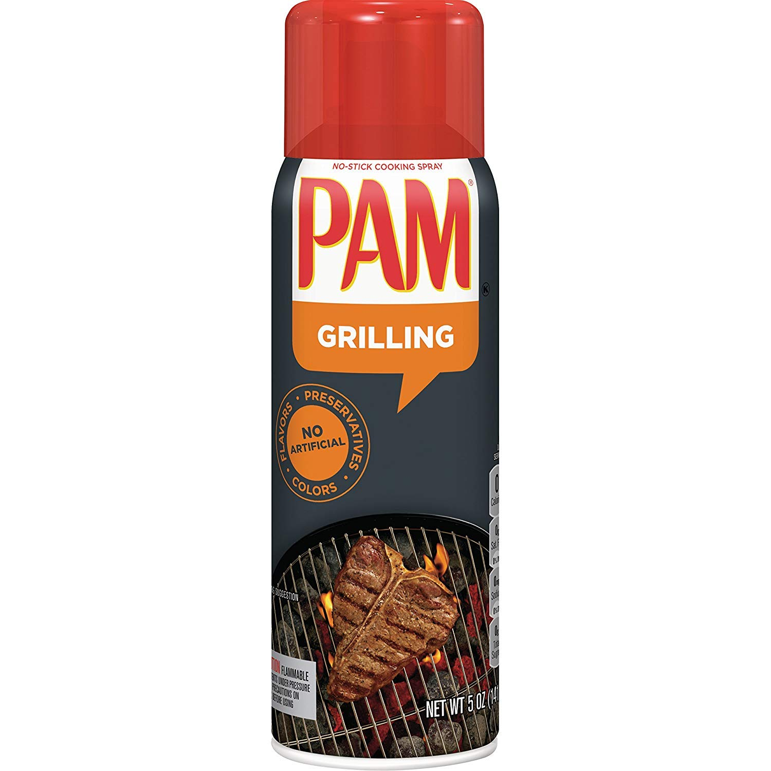 PAM No-Stick Cooking Oil Spray for Grilling 5 oz (Pack of 12) by PAM
