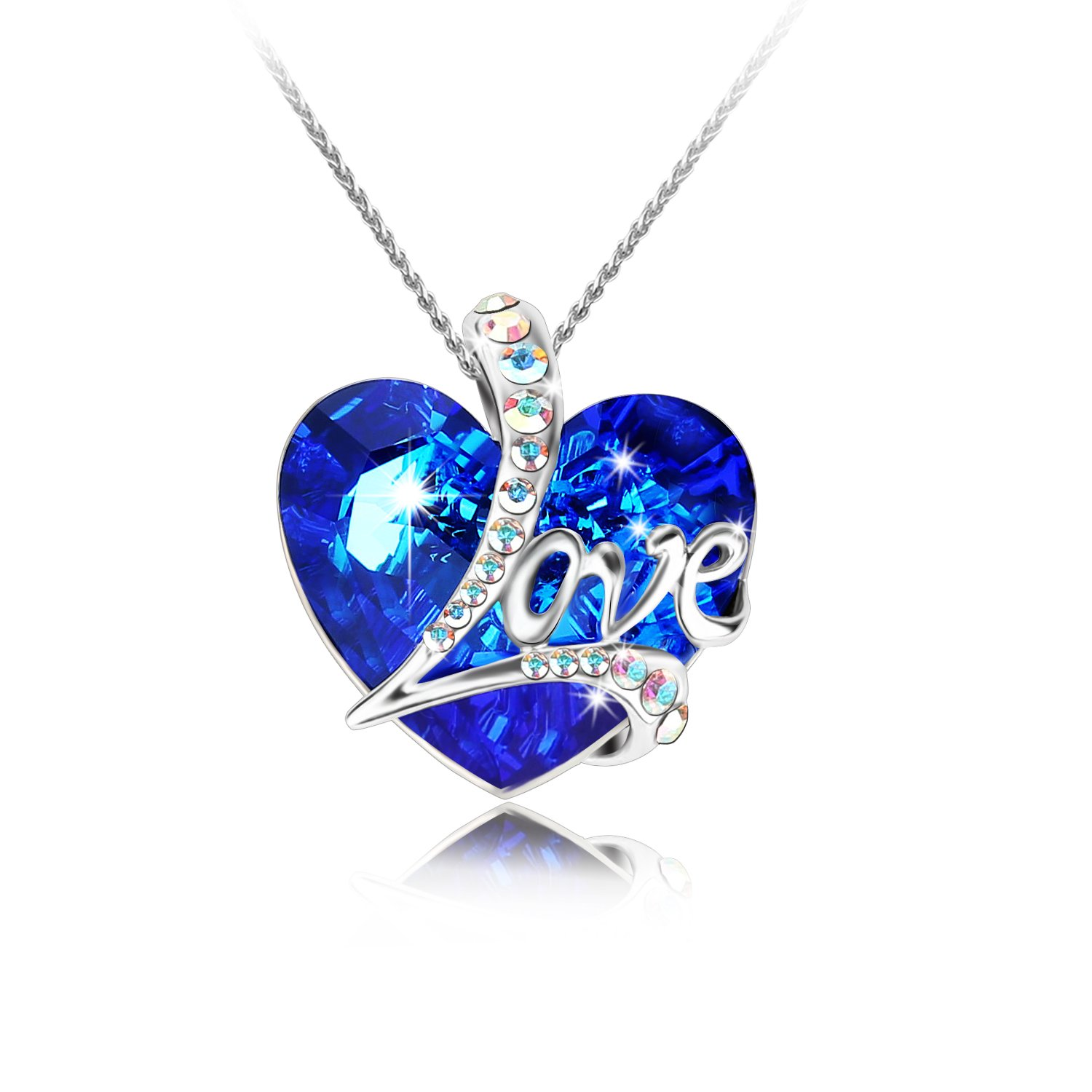 "Amazon Pealrich "" Heart of the Ocean"" Love Heart Pendant"