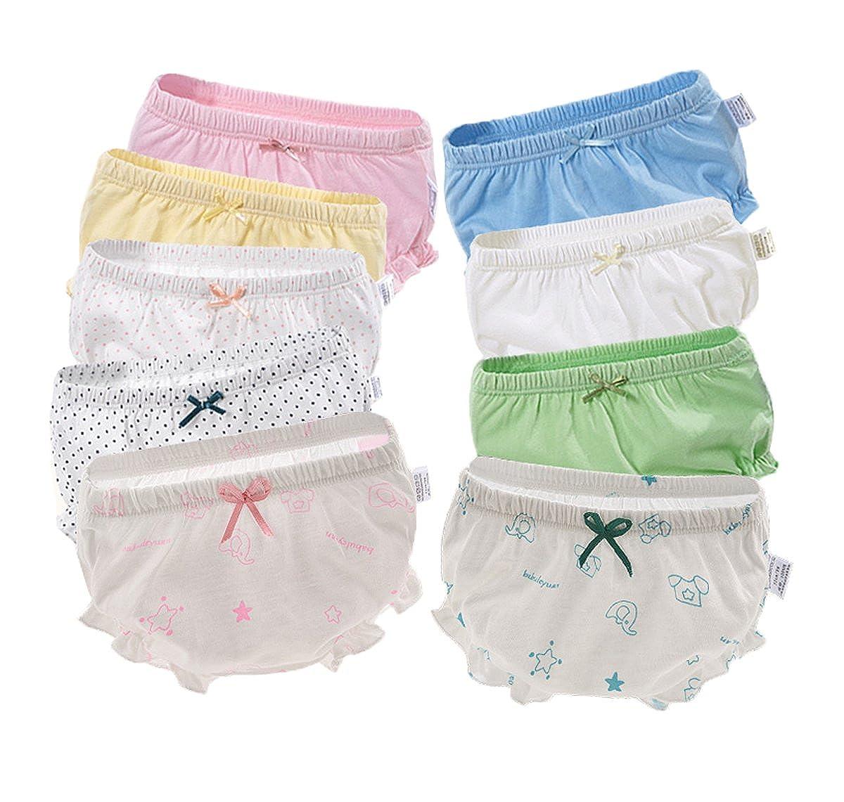 3 Set Kleinkinder Baby Mädchen Bequem Baumwolle Unterhosen Unterwäsche Süß Trainerhose