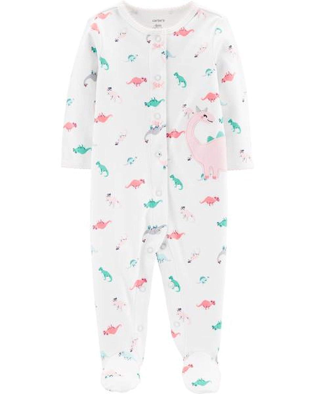 5019b0fe46b Amazon.com  Carter s Baby Girls  Dinosaur Snap-Up Cotton Sleep   Play   Clothing