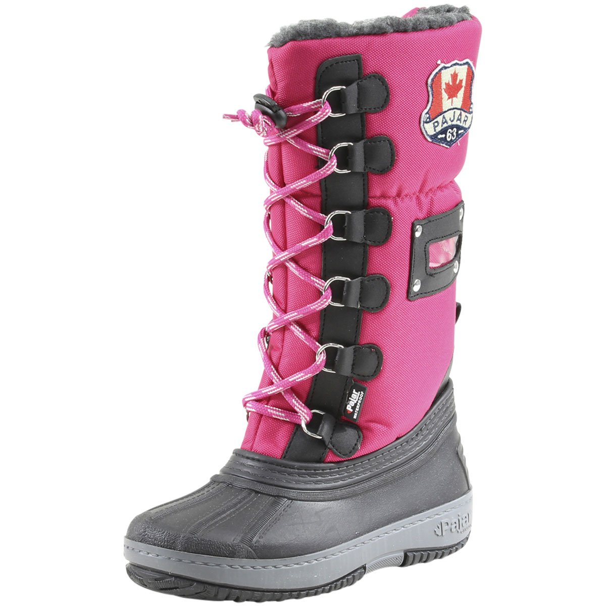 Pajar Gripster Boots - Kid's Dark Pink 36 by Pajar