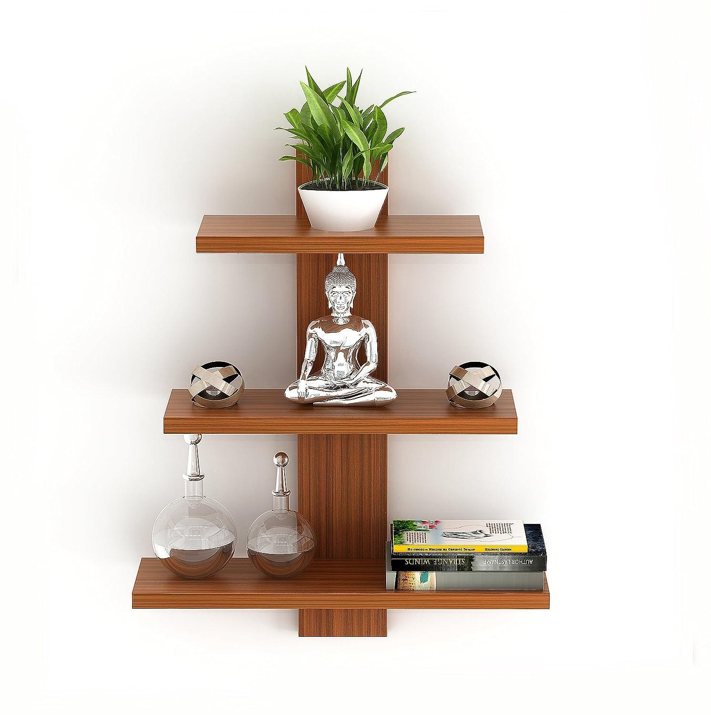 Bluewud Phelix Wall Decor Book Shelf/Wall Display Rack (3