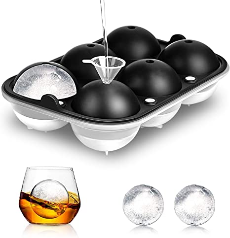Round Ice Cube Ball Maker Tray Silicone Sphere Mold Bar Whiskey Cocktails Party