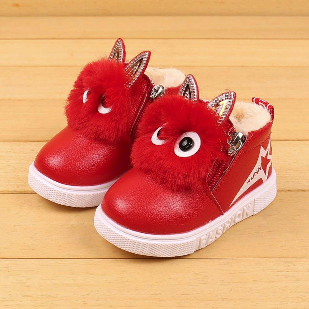 45ea5a8707c1a Solike Chaussures pour Enfants Mode Enfants Garçons Filles Espadrille  Bottes Hiver d enfants d automne Chaud bébé Chaussures Casual(1.5-6 Ans)  (21 1.5 Ans