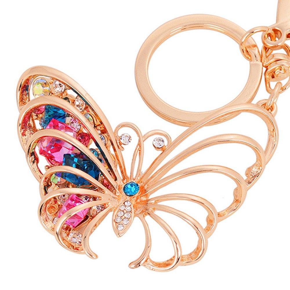 Amazon.com: Mariposa colgante de llavero brillante ...