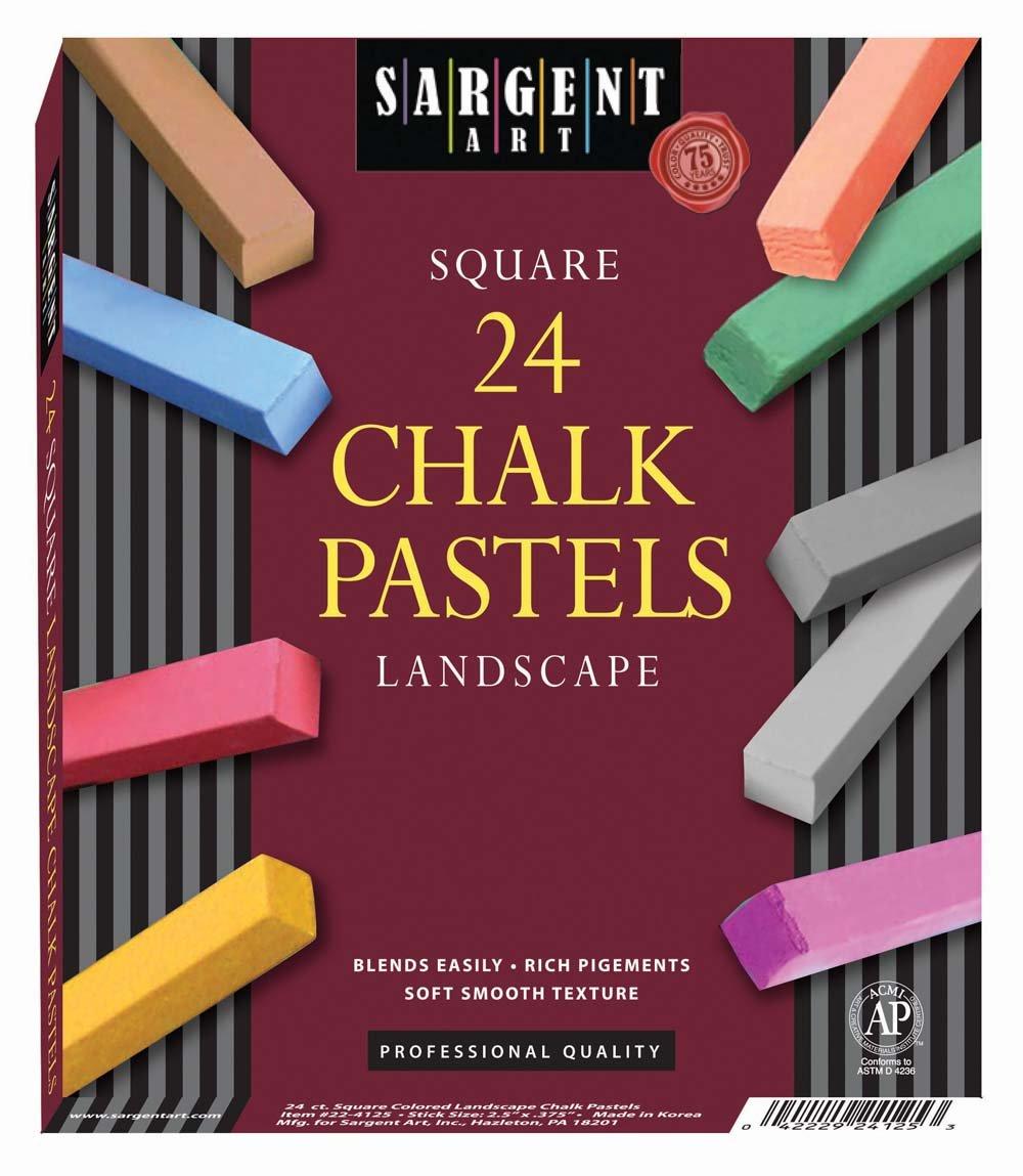 Sargent Art 22-4125-24-Count Landscape Square Half Pastels