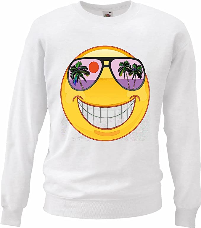 Sudaderas Suéter Sonriente en Hawaii Holiday con Gafas de ...