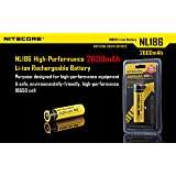 Nitecore 18650 3.7V 2A 9.6Wh 2600mAh Protected Li-ion Rechargeable Battery-Black+Yellow(NL186)