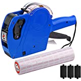 MX-5500 8 Digits Price tag Gun with 5000 Sticker Labels and 3 Ink Refill, Label Maker Pricing Gun Kit Numerical Tag Gun for O