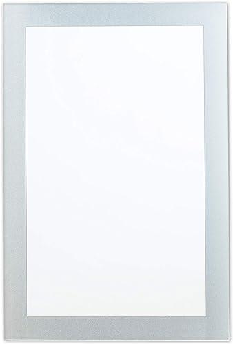 Better Bevel 30 x 40 Frameless Rectangle Mirror Frosted Border