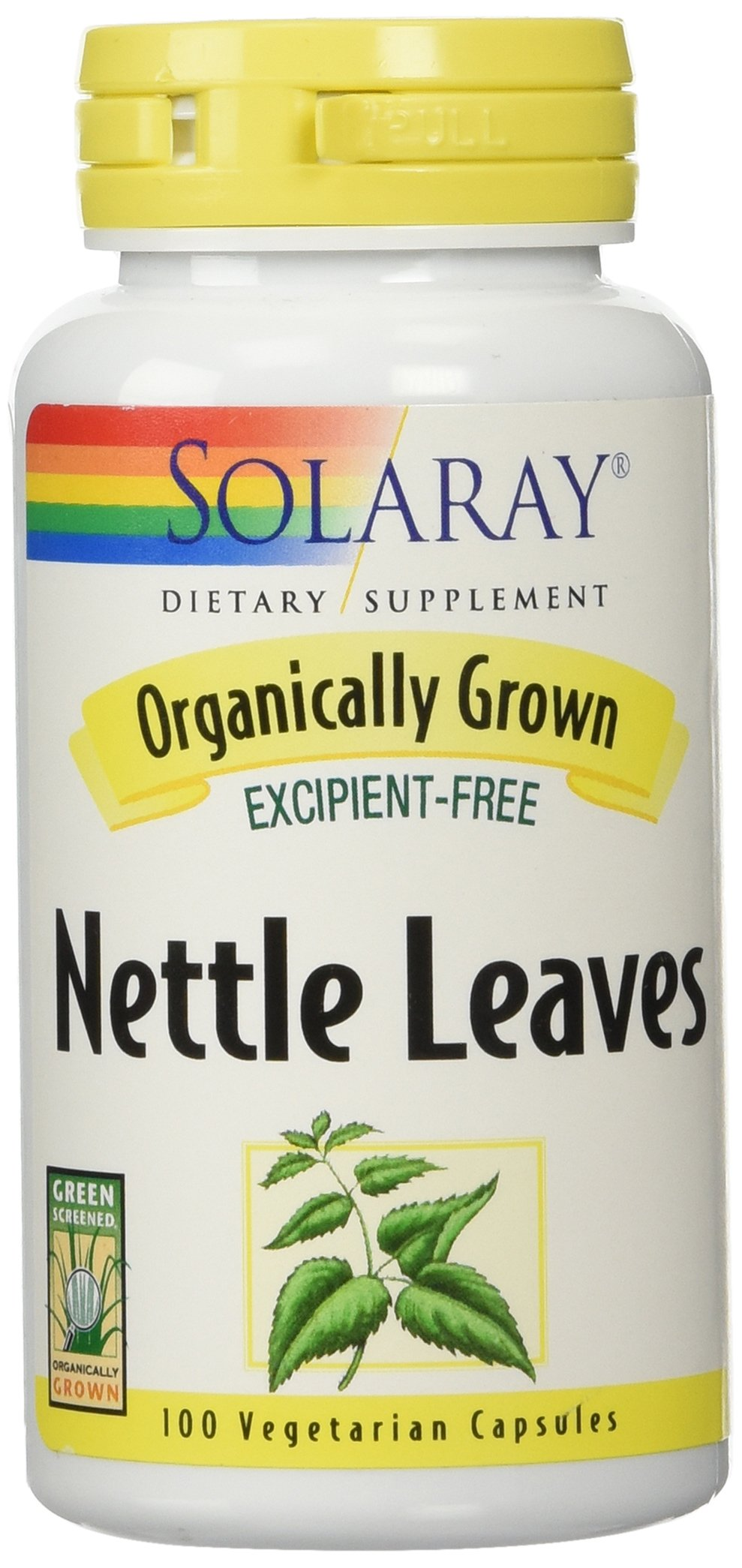 Solaray Organic Nettle Leaves Supplement, 450 mg, 100 Count