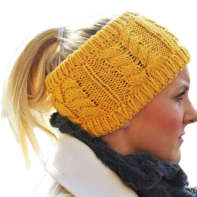 Cindeyar Damen Gestrickt Stirnband Winter Kopfband Haarband ...