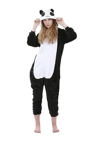 e2fe73b22244 Mango People Women s Fleece Panda Pyjama Set (Black and White