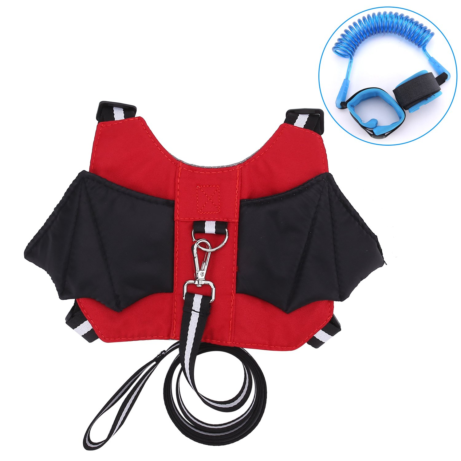 Anti-Lost Baby Safety Walking Harness & Leash Strap Backpack for 1 – 4 Years Old Boy & Girl for Travel Park Hiking + Bonus Safety Wrist Link JCSHHUB K2854215