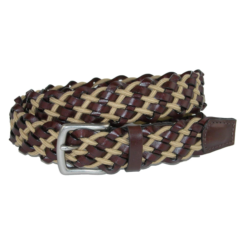 494024ddf3 CrookhornDavis Men's Como Leather with Cotton Cord Braided Stretch ...