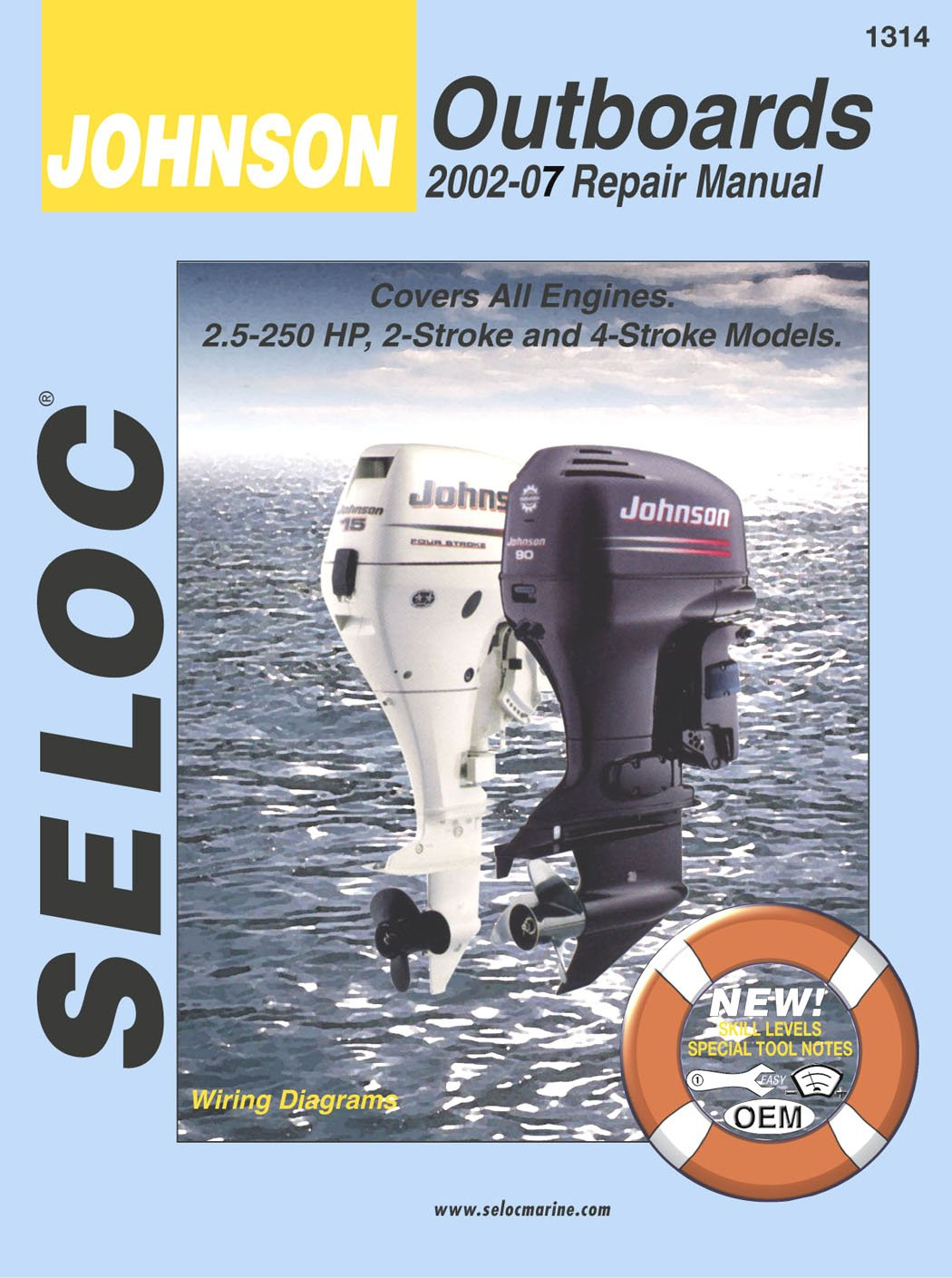 Amazon.com : Sierra International Seloc Manual 18-01314 Johnson Outboards  Repair 2002-2007 2.5-250 HP 2 Stroke & 4 Stroke Model : Sports & Outdoors