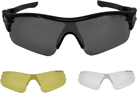 VeloChampion Warp Ciclismo Conducción MTB Gafas de Sol híbridas ...