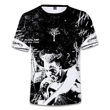 422be33c EnjoyYourLife 3D Unisex T-Shirt R.I.P Xxxtentacion T-Shirt 3D Printed Top  Crew Neck Shirt Short Sleeve Printed Tee Shirt: Amazon.co.uk: Clothing