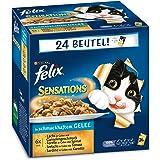 Felix Sensations Fisch Mix 24x100g Katzenfutter von Purina