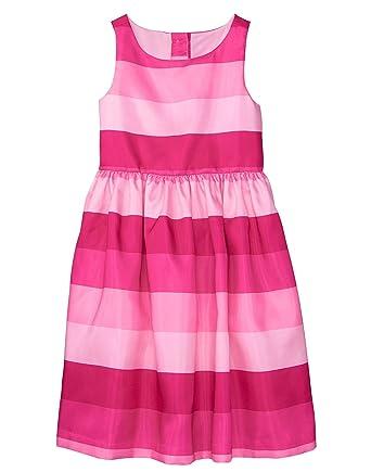 7ddbe5644f9f Amazon.com: Gymboree Girls' Little Sleeveless Striped Dress: Clothing