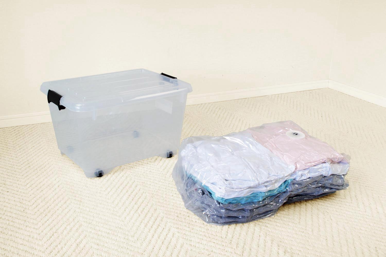 オリエント Q-PON!フラットバルブ 衣類圧縮袋マチ付1P 90×78cm
