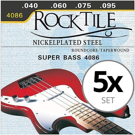 Rocktile cuerdas de bajo eléctrico pack de 5: Amazon.es: Instrumentos musicales