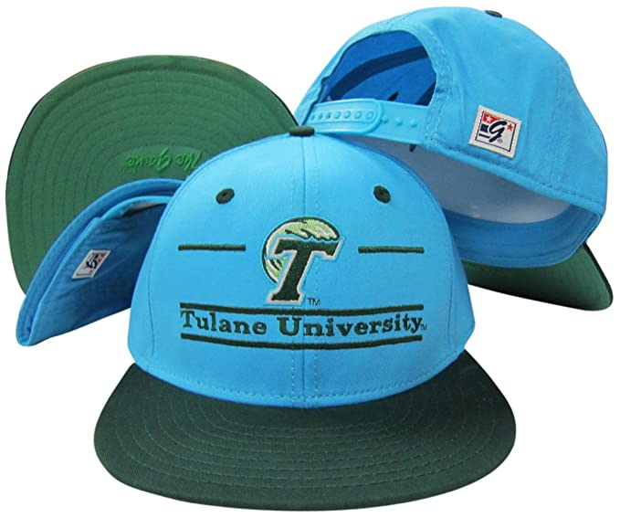 Image Unavailable. Image not available for. Color  Tulane Green Wave  Classic Split Bar Snapback Adjustable Plastic Snap Back Hat Cap 1c54078a2639