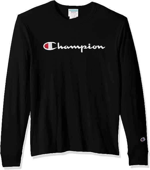 Champion White Heritage Gold Script Long Sleeve T-Shirt