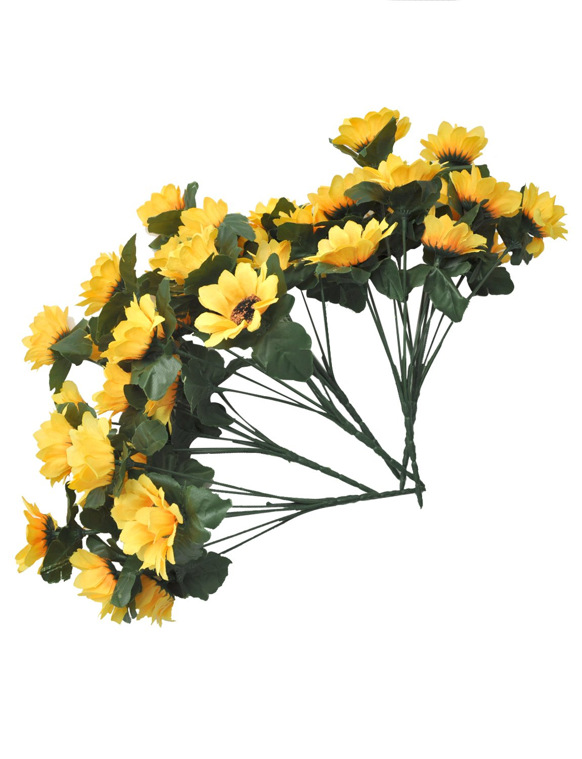 6 Bunches Per Pack with 7 Flowers Per Bunch BTSD-home Artificial Sunflowers Bouquet for Home Decoration Wedding Party Decor Silk Flower