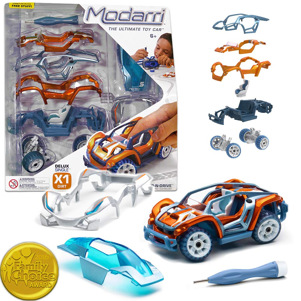 Build Your Car >> Modarri Delux X1 Dirt Car Build Your Car Kit Toy Set Ultimate Toy Car Make Your Own Car Toy For Thousands Of Designs Real Steering And