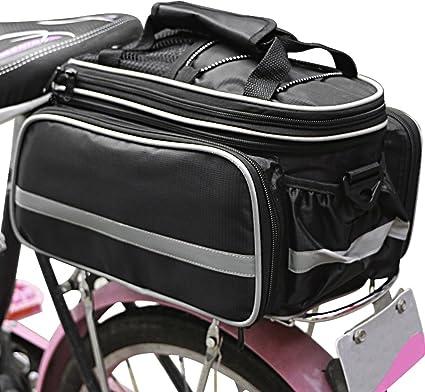Bike Seat Bag Rear Rack Pack Bicycle Luggage Bag Cycling Trunk Pannier Handbag