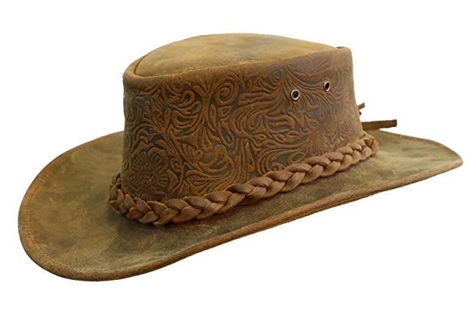 2cd2a4fcb61 Kakadu Leather Hat with shapable Brim