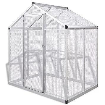 Furnituredeals Jaula de Mascota con techos Pajarera de Exterior de ...