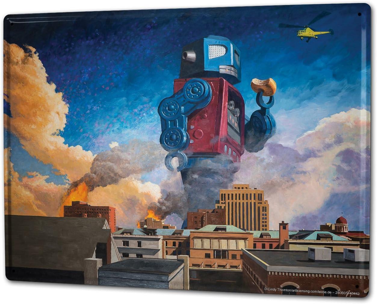 LEotiE SINCE 2004 Cartel Letrero de Chapa XXL Gothic Robot de Mundo Inventado: Amazon.es: Hogar