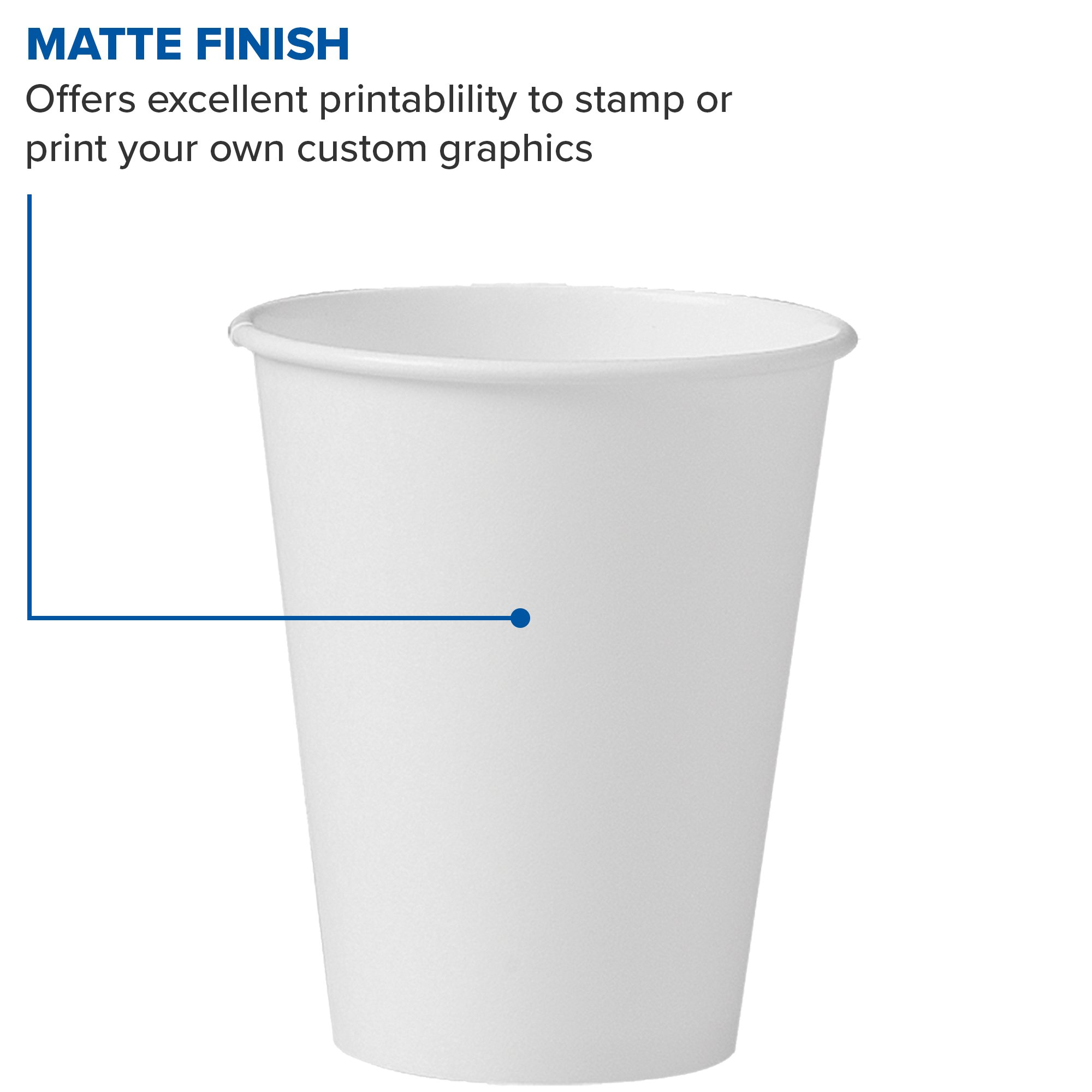 Solo 378W-2050 8 oz White SSP Paper Hot Cup (Case of 1000) by Solo Foodservice (Image #5)