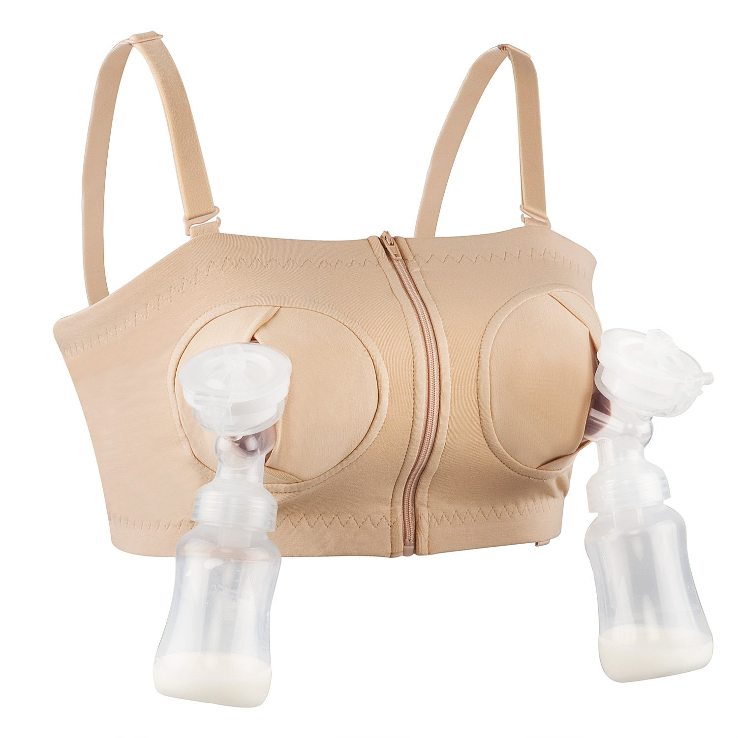 f9ac6aef96 Amazon.com   Hands-Free Pumping Bra Adjustable Breast-Pumps Holding Bra by  JIAN - Suitable for Breastfeeding-Pumps by Medela