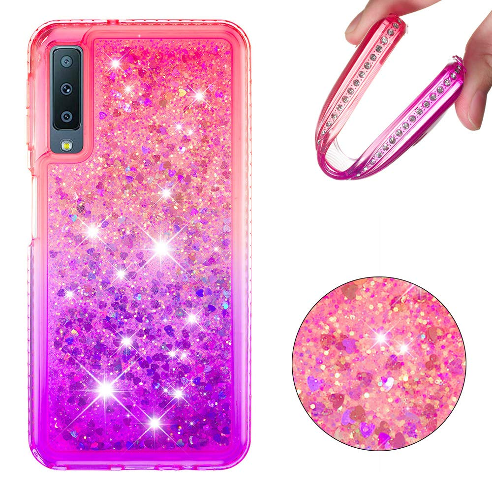 A920 H/ülle Vectady f/ür Samsung Galaxy A9 2018 Handyh/ülle Case Fl/üssig Durchsichtig Transparent Glitzer Diamant Schutzh/ülle Cover Silikon Bumper Etui f/ür Samsung Galaxy A9 2018 A920,Rosa Lila