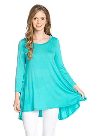 9b357f2218e Frumos Womens Tunic Loose Fit Long Tunic Top Made In USA at Amazon ...