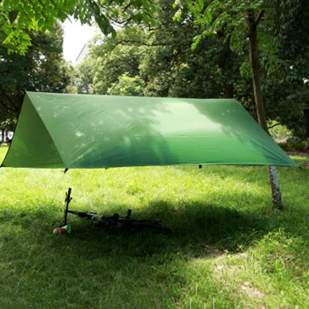 Yardwe Camping Lona Impermeable al Aire Libre Ligero Mochila Carpa Lona Camping Refugio 300 Tiendas de campaña 300 cm Mobiliario y materiales para educación temprana