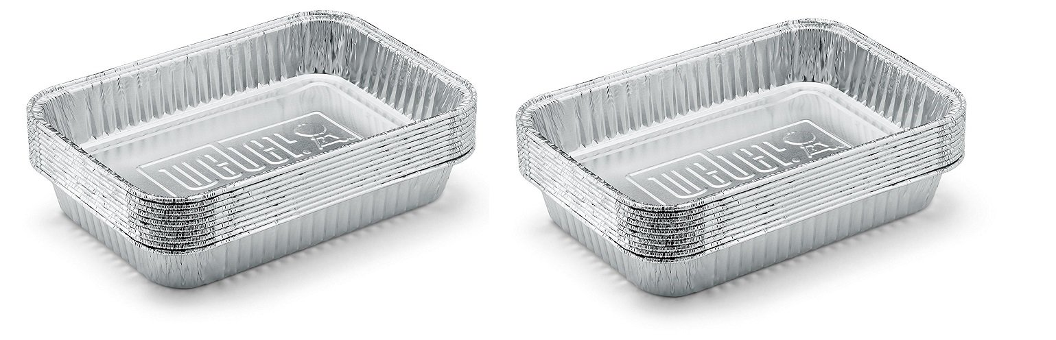 Weber 6415 Small 7-1/2-Inch-by-5-inch Aluminum Drip Pans, Set of 10 (2-Sets of 10)