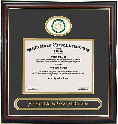 Signature Announcements Chadron-State-College Undergraduate Sculpted Foil Seal Graduation Diploma Frame 16 x 16 Matte Mahogany