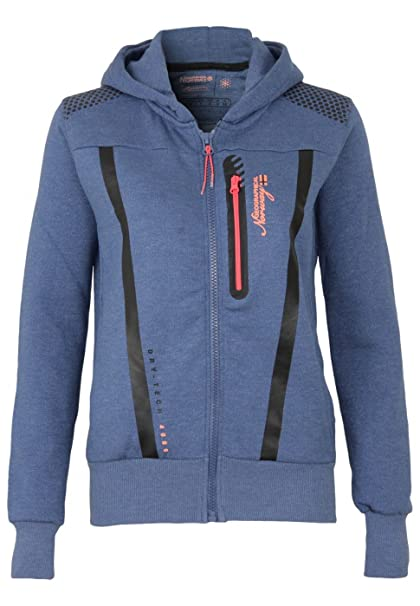 Geographical Norway Sudadera con Cierre Fitness Azul Marino L (FR 3)