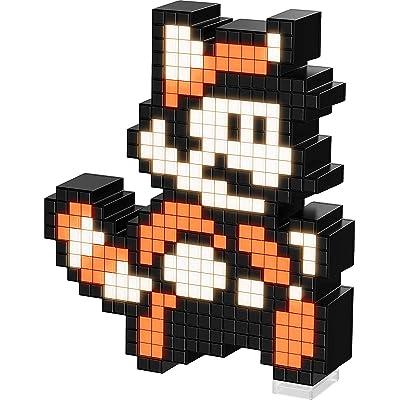 PDP Pixel Pals Nintendo Super Mario Bros 3 Raccoon Mario Collectible Lighted Figure, 878-032-NA-TNM: Toys & Games