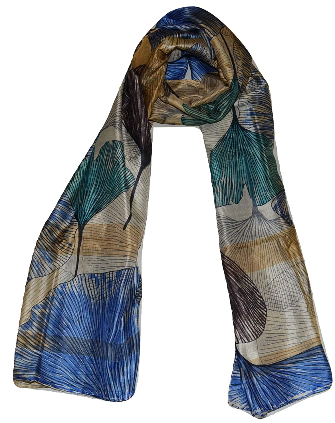 Multicolor 1 Handcrafted 100% Pure Mulberry Silk, Floral Print, Scarf Stole.