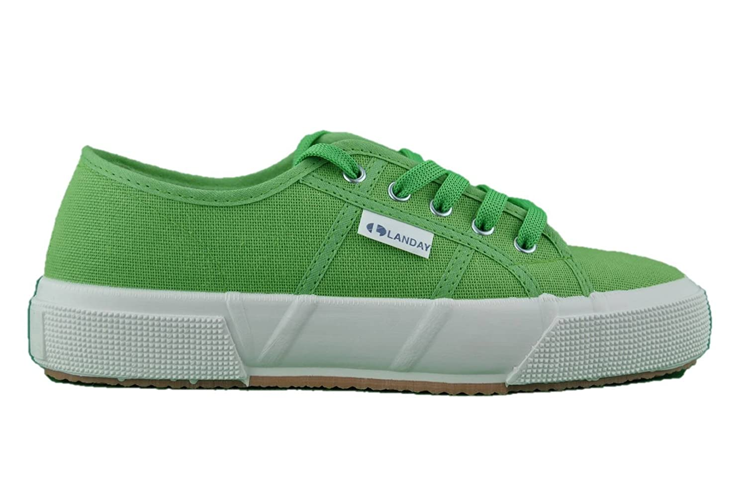 c377f92b42a7d Amazon.com | Made In Italy Sneakers Green Fabric Girl Shoes ...