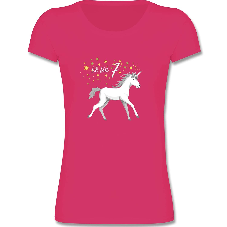 Geburtstag Kind 8 Geburtstag Einhorn Madchen T Shirt Shirtracer