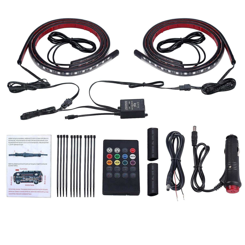 luces de neon RGB 12v con control y kit de sonido