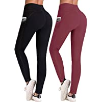 VANSOON Womens Pure-Colour Girdle Fast-Drying Fitness Sports Running Yoga Pants Yoga Running Gym Sports Workout Leggings