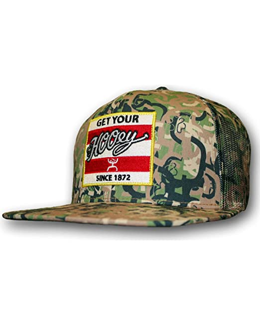 caa101a79 HOOey Hat Mens Trucker Cap Camo Ziggy One Size Fits All Camo 1620T-C ...