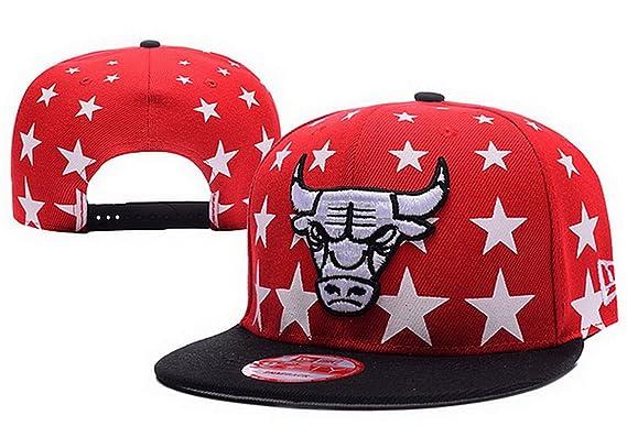 Béisbol Chicago Bulls Gorra rojo 3- Sr./Sra personalizado logotipo ...